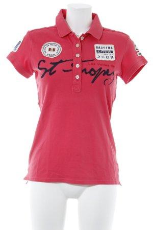 Gaastra Polo-Shirt rot Schriftzug gedruckt sportlicher Stil