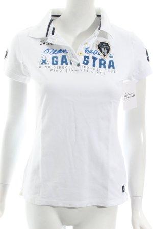 Gaastra Polo-Shirt Schriftzug gedruckt Segel-Look
