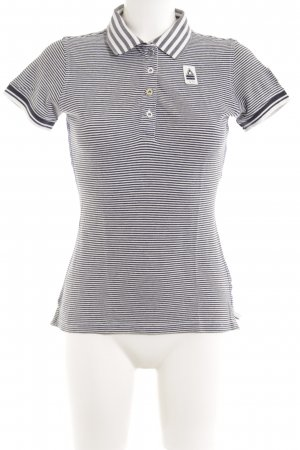 Gaastra Polo-Shirt schwarz-weiß Streifenmuster Casual-Look