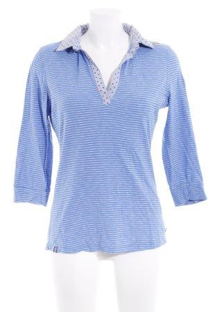 Gaastra Polo-Shirt weiß-kornblumenblau Sternenmuster Casual-Look