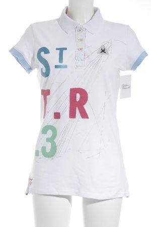Gaastra Polo-Shirt weiß-pink Segel-Look