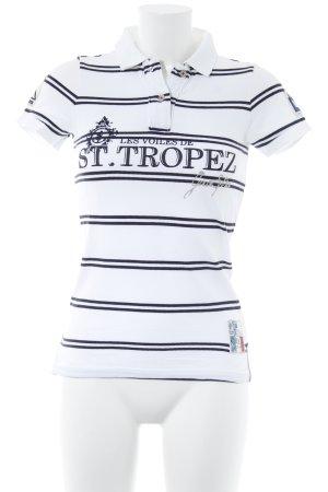 Gaastra Polo-Shirt weiß Schriftzug gedruckt sportlicher Stil
