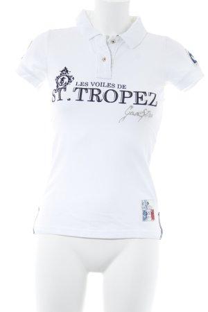 Gaastra Polo-Shirt wollweiß Schriftzug gedruckt Casual-Look