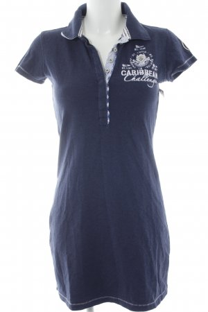 Gaastra Polo Dress dark blue-white embroidered lettering business style