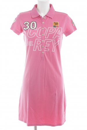 Gaastra Polo Dress pink-white printed lettering casual look