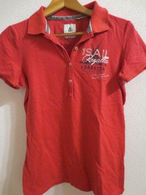Gaastra, Poloshirt, Gr. 36, rot/pink, Aufdruck