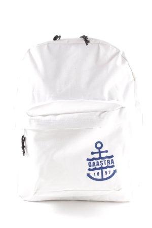 Gaastra School Backpack white-neon blue simple style