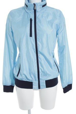 Gaastra Veste de sport bleu clair-noir style décontracté