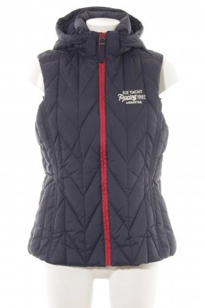 Gaastra Quilted Gilet dark blue-bright red quilting pattern casual look