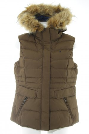 Gaastra Quilted Gilet dark green casual look