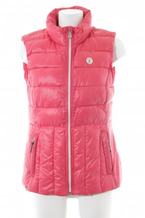 Gaastra Quilted Gilet bright red '80s style
