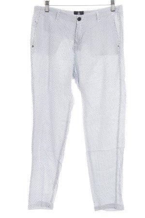 Gaastra Stoffhose weiß-blau abstrakter Druck Casual-Look