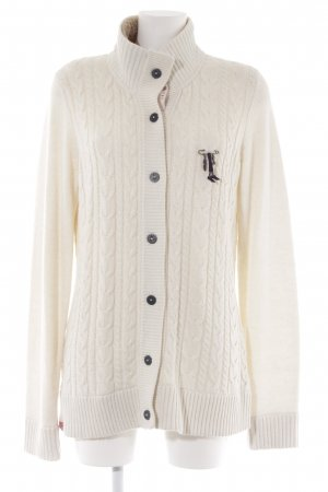 Gaastra Strickjacke creme Zopfmuster Casual-Look