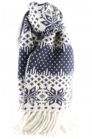 Gaastra Knitted Scarf dark blue-natural white allover print casual look