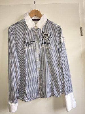 Gaastra stylische Hemd Bluse Blau Weiß gestreift XXL/44