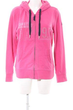 Gaastra Sweatjacke pink Schriftzug gedruckt Casual-Look