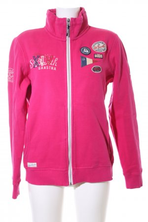 Gaastra Sweatjacke pink Motivdruck Casual-Look