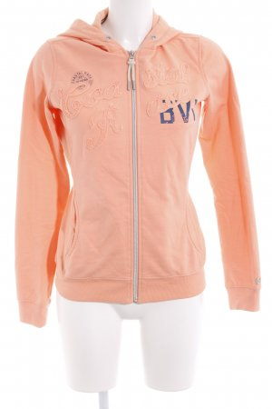 Gaastra Veste sweat orange lettrage imprimé style décontracté