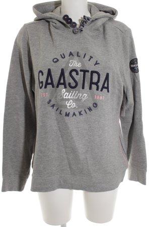 Gaastra Sweatshirt gris-bleu foncé motif graphique style décontracté