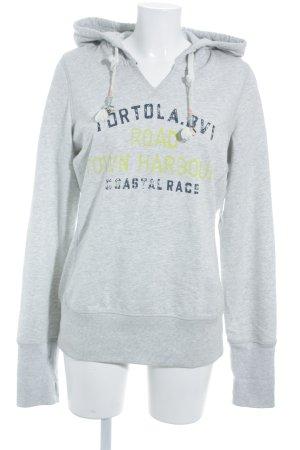 Gaastra Sweatshirt limettengelb-dunkelblau Schriftzug gedruckt Casual-Look