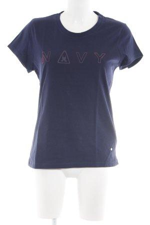 Gaastra T-Shirt neonblau Schriftzug gedruckt Casual-Look