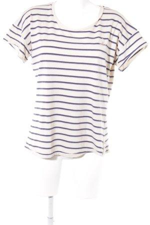 Gaastra Camiseta beige-azul oscuro estampado a rayas look casual