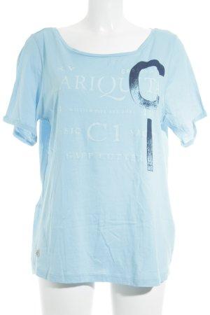 Gaastra T-Shirt hellblau-dunkelblau Schriftzug gedruckt Casual-Look