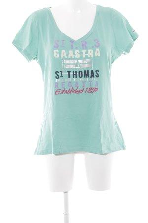 Gaastra T-Shirt hellgrün Motivdruck sportlicher Stil