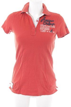 Gaastra T-Shirt rot Schriftzug gedruckt sportlicher Stil