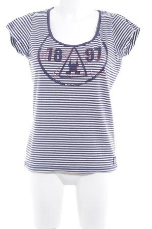Gaastra T-Shirt weiß-dunkelblau Schriftzug gedruckt Casual-Look