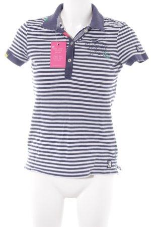 Gaastra T-Shirt weiß-dunkelblau Schriftzug gestickt sportlicher Stil