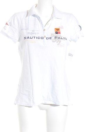 Gaastra T-Shirt weiß Schriftzug gedruckt Casual-Look