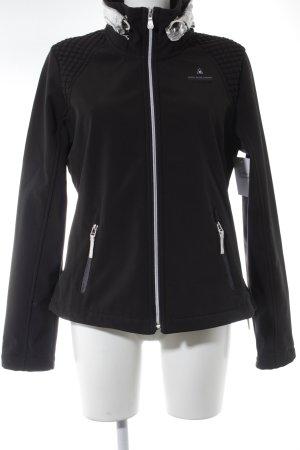 Gaastra Übergangsjacke schwarz-silberfarben Steppmuster Casual-Look