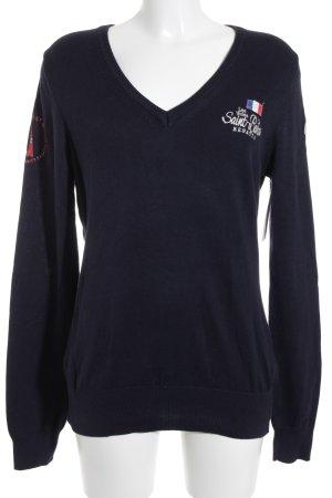 Gaastra V-Ausschnitt-Pullover dunkelblau Casual-Look