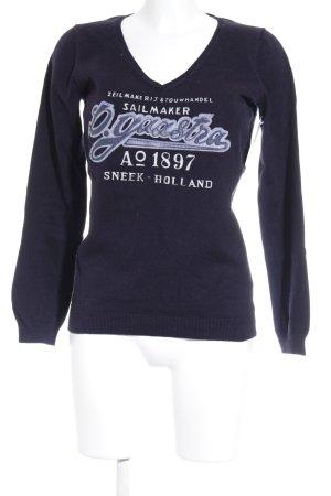 Gaastra V-Ausschnitt-Pullover dunkelblau Street-Fashion-Look