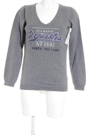 Gaastra V-Ausschnitt-Pullover grau Casual-Look