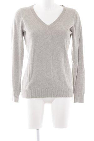 Gaastra V-Ausschnitt-Pullover hellgrau Casual-Look