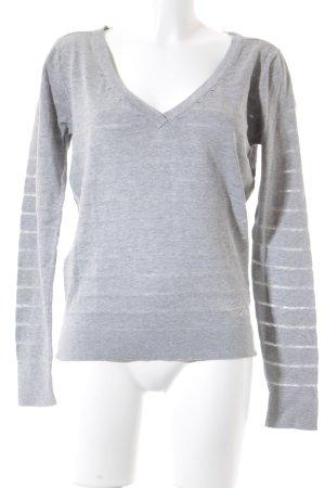Gaastra V-Ausschnitt-Pullover hellgrau meliert Casual-Look