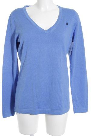 Gaastra V-Ausschnitt-Pullover kornblumenblau Casual-Look