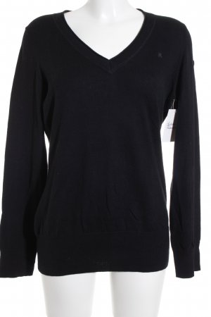 Gaastra V-Ausschnitt-Pullover schwarz Casual-Look