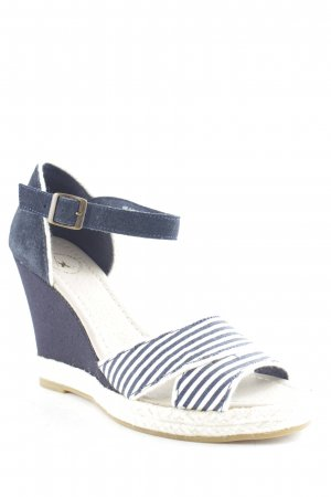 Gaastra Wedge Sandals dark blue-white striped pattern beach look