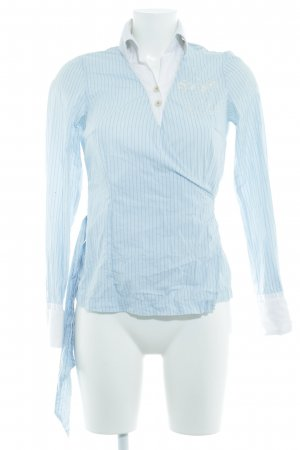 Gaastra Wickel-Bluse himmelblau Streifenmuster Casual-Look