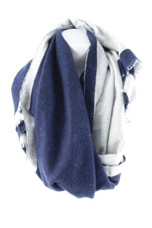 Gaastra Bufanda de lana azul oscuro-blanco puro look casual