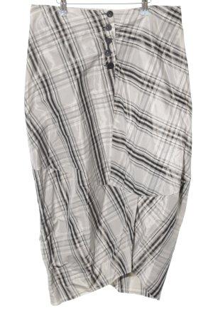 Gabi Lauton Gonna a palloncino grigio chiaro-nero motivo a quadri elegante