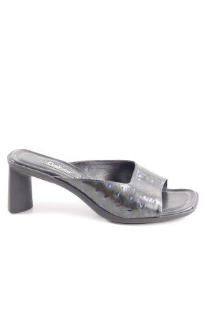 Gabor Heel Pantolettes black business style