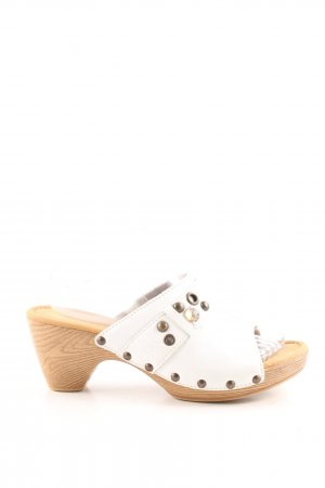Gabor Heel Pantolettes white casual look
