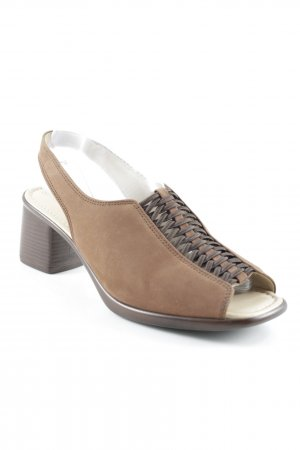 Gabor Heel Pantolettes dark brown-brown casual look