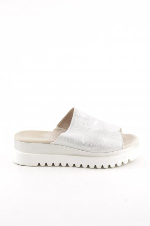 Gabor Heel Pantolettes white-silver-colored casual look