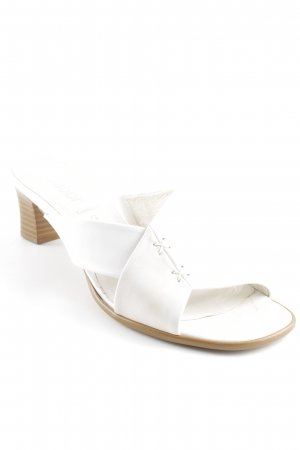Gabor Heel Pantolettes natural white beach look