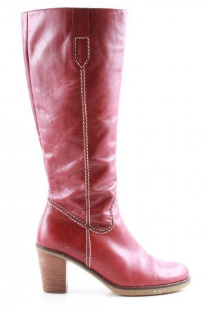 Gabor Absatz Stiefel rot Casual-Look